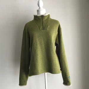 Kuhl Green Zip Fleece Sweatshirt Sweater XL